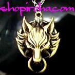 ガロウフェイスアミュレット 金狼の護符ペンダント精霊金色ネックレス 牙狼CRファン必見