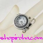 指時計 鎖 銀 22 丸 斜線 shopiroha.com オリジナル方式  指輪時計 RingClock フィンガーウォッチ リングウォッチ