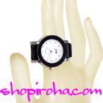 指時計 ベルトタイプ 25mm 文字盤 白 ラインストーン 指輪時計 RingClock フィンガーウォッチ リングウォッチ