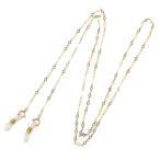 18金の メガネチェーン ダイヤ型チェーン K18 ひし形 ネックレスにもなる 2WAY 眼鏡 チェーン ゴールドプレゼント