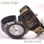 腕時計 レディース バングル アンティーク仕上げ ブレスレット クオーツ ウォッチ 日本製ムーブメント