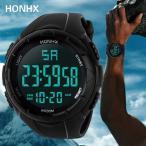 高級メンズアナログデジタル軍事軍隊スポーツLED防水腕時計