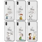 Snoopy Cartoon Clear Jelly/スヌーピー/iPhone/Galaxy ケース/カバー/スマホケース