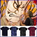青森ねぶたTシャツ 青森ねぶた祭り 竹浪比呂央 ねぶたTシャツ 羅漢-らかん 歌舞伎Tシャツ 和柄Tシャツ サムライTシャツ 男女兼用サイズ画像