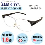 SMART EYE 拡大鏡 1.6倍 メガネタイプ ルーペ 紫外線 ブルーライトカット スマートアイ  SM-01-1 (5) あすつく