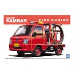 アオシマ◆1/24 サンバー消防車 4WD(トラック型) ◆14172 1/24 ザ・ベストカーGT50