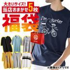 メンズ ビッグサイズ 大きいサイズ Tシャツ ポロシャツ 半T プリント 福袋 ランダム おまかせ まとめ買い 家計応援 5点セット 5枚入り メール便なら送料無料
