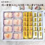 福井伝統銘菓セット 羽二重がさね8個+羽二重餅(白)10枚+(きなこ)10枚