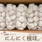 にんにく種球 1kg×10ネット 中国産 上海嘉定種(ホワイト)