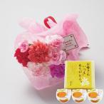 母の日 ギフト カーネーション花束とまるごとみかんゼリーのセット 送料無料 お届け期間5月6日〜10日 フラワー 花 スイーツ