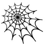 エアブラシ ボディージュエリー ヘナタトゥー用ステンシル/蜘蛛の巣 H:8cm