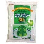 かんてんぱぱ カップゼリー 80℃ 青りんご味 約40人分 200g×3袋入 伊那食品