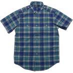 ショッピングラルフローレン ラルフローレン 半袖 マドラスチェックシャツ ブルー Polo Ralph Lauren 034