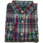 ラルフローレン 長袖 ボタンダウンシャツ マドラスチェック グリーン Polo Ralph Lauren 953
