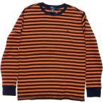 ショッピングラルフローレン ラルフローレン Ralph Lauren Tシャツ ロンT 長袖 ボーイズサイズ サーマル ボーダー オレンジ boys /981