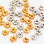 ビーズ メタリック 小花パーツA 5mm・小花パーツB 6.2mm ゴールド・シルバー|ビーズ|パーツ|メタルパーツ|花|小花|トーカイ|
