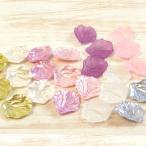 ビーズ アクリルビーズ 花びらパーツ 25×21mm |ビーズ|パーツ|花びら|フラワー|アクリル|トーカイ|