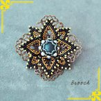 ビーズ アクセサリーキット アクセサリーコレクション ブローチ ブルー AC-103|小物|ハンドメイド|手芸|手作り|期間限定SALE|