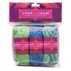ビーズ LOOPDeDOOシリーズ LOOPDeLoom アクリル糸3セット LWY4 ビーズ キット ループデドゥ