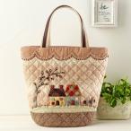 クラフト パッチワークキルト 柴田明美のしあわせ気分なパッチワークバッグ&ポーチ 可愛いスカラップとハウスのバッグ