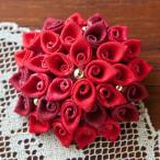 クラフト ソーイング・布手芸 つゆつきのつまみ細工キット ふくろつまみのブローチ 赤花|piece|ピース|