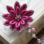 クラフト ソーイング・布手芸 つゆつきのつまみ細工キット つゆつきの花2wayブローチ 梅紫|piece|ピース