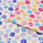 生地 綿麻混生地 エミココレクション 花 綿麻キャンブリック TK-FS|高橋恵美子|ブラウス|ソーイング|花柄|