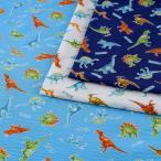 サマーセレクト 恐竜 リップル 1m単位 切売り 生地 布 布地 綿 コットン 綿100 きょうりゅう ダイナソー 浴衣 ゆかた ゆかた生地