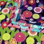 古典浪漫 矢絣菊 シーチング 1m単位 切売り 生地 布 布地 綿 綿100 コットン 和柄 和モダン 和柄 和風 伝統文様