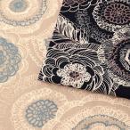 北欧の森 ドローイングフラワー 10番オックス(1m単位) 切売り 切り売り 生地 布 布地 北欧 北欧風 北欧調 花 花柄 フラワー フラワープリント