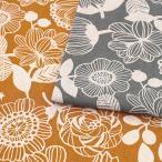 北欧の森 モダンフラワー 綿麻10オックス(1m単位)|切売り 切り売り 生地 布 布地 花 花柄  | シュゲールのSUPER SALE |