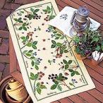 刺繍 キット オリムパス 青木和子 クッション フラワー テーブルセンター ベリー&ベリー ベージュ