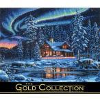 刺繍 輸入キット Dimensions ゴールドコレクション 風景 The Gold Collection Aurora Cabin