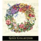 刺繍 輸入キット Dimensions ゴールドコレクション フラワー Wreath of All Seasons
