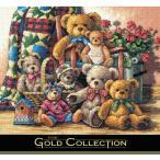刺繍 輸入キット Dimensions ゴールドコレクション アニマル Teddy Bear Gathering