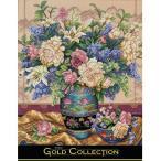 刺繍 輸入キット Dimensions ゴールドコレクション フラワー Oriental Splendor