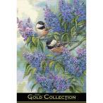 刺繍 輸入キット Dimensions ゴールドコレクション アニマル Chickadees and Lilacs