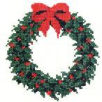 手芸材料の通販シュゲールYahoo!店で買える「刺繍 輸入キット O.O.E. Christmas wreath ベーシック|クリスマス|デンマーク|プレゼント|」の画像です。価格は1,706円になります。