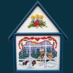 刺繍 輸入キット O.O.E. Christmas from small window view クリスマス デンマーク プレゼント 