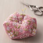 刺繍 キット COSMO ルシアン ピンクッション 八角形のピンクッション ビスコーニュキット フラワー