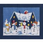 刺繍 輸入キット RTO Adventure of Snowman|M537|ロシア|クロスステッチキット|刺繍|クリスマスキット|人気|