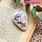 刺繍 キット piece Rairaiさんのノスタルジックフラワー ブローチ Violet bouquet
