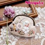 刺繍 キット piece Rairaiさんのノスタルジックフラワー がま口 Dusty pastel garden