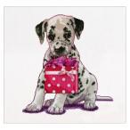 子犬はアイーダの買い物に行ったカウンテッドクロスステッチ ステッチ キット-12-1/4 X 11-3/4 16 カウント