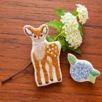 刺繍 キット piece Chicchiさんの動物刺しゅうキット ブローチ 小鹿さんとアジサイ
