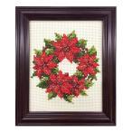 刺繍 キット COSMO(ルシアン) 四季折々の花だより 12月 ポインセチア