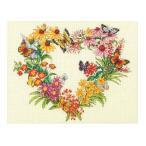 刺繍 輸入キット Dimensions クロスステッチキット Wildflower Wreath (ワイルドフラワー リース)