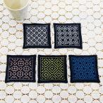 刺繍 キット オリムパス 刺し子 一目刺しのコースター 藍 SK-331(5枚1組)