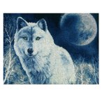 ショッピングFleece 刺繍 輸入キット Golden Fleece(ゴールデンフリース) White wolf
