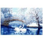 ショッピングFleece 刺繍 輸入キット Golden Fleece(ゴールデンフリース) White swans